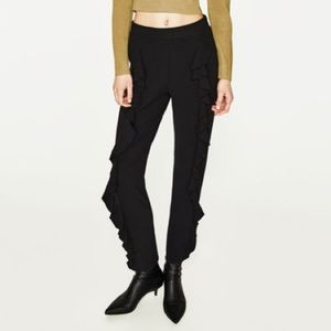 Zara PANTS WITH FRONT FRILLS